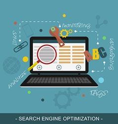 Seo search engine optimization concept vector