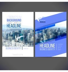 template design annual report 2017 brochure vector image vector image