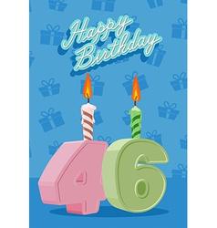46 years celebration 46nd happy birthday vector image