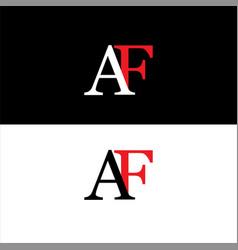 A f joint letter logo vintage design vector