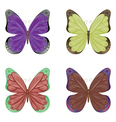 Abstract colorful butterflies vector image