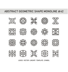 Abstract geometric shape monoline 42 vector