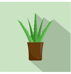 aloe plant icon flat style vector image
