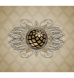 Background with abstraction vector image vector image