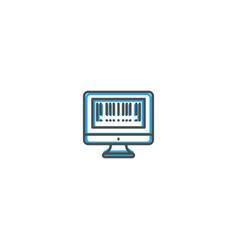 barcode icon design shopping icon design vector image
