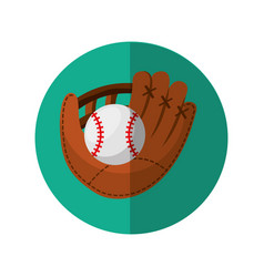 Baseball glove isolated icon vector