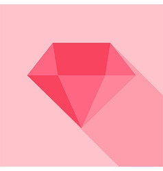 Big pink diamond vector