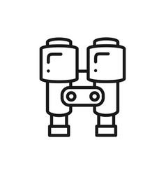 binoculars line icon lantern optical spy sign vector image
