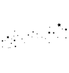 black shooting star with elegant star trail on vector image