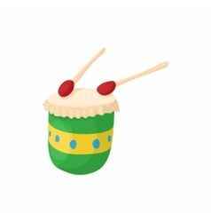 Brazilian drum icon cartoon style vector