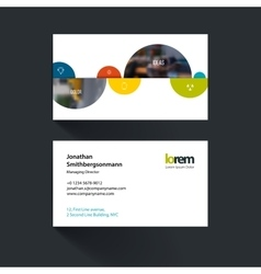 Business card template with half spheres vector