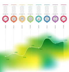 Business chart graph of increase infographics with vector image