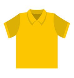 Clean t shirt icon flat style vector