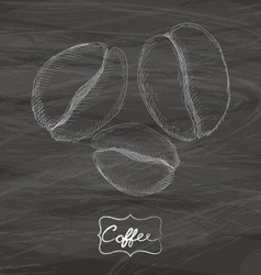 Coffee drawing with chalk on blackboard vector