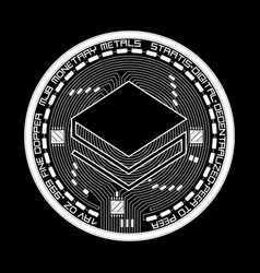crypto currency stratis black and white symbol vector image