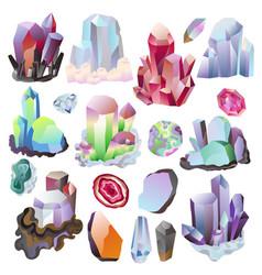 Crystal crystalline stone or precious vector