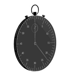 dark stopwatch on white vector image