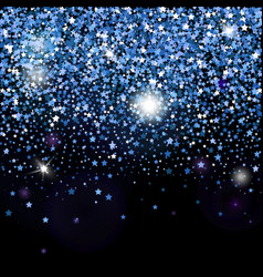 Decorative poster with bright glitter stars vector