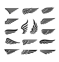 Eagle wings army minimal logo wing graphics vector