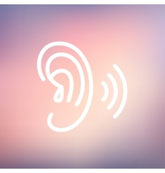 Ear thin line icon vector