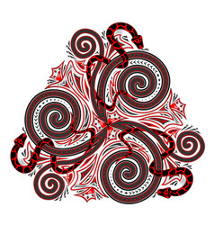 Fantasy drawing celtic popular ornament vector