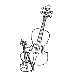 Fiddle instrument musical icon vector