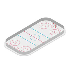 Field of play ice hockey isometric vector
