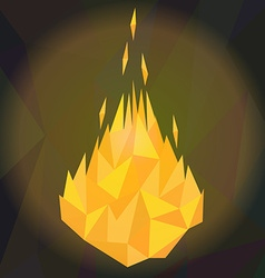 fire flames low poly vector image