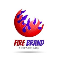 Fireball - logo template concept vector