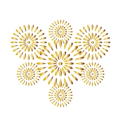Fireworks gold isolated on white background vector image