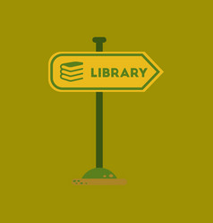 Flat icon on background sign library vector