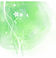 Floral design on watercolour background vector