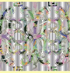 floral ornamental vintage 3d greek seamless vector image