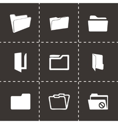 Folder icons set vector