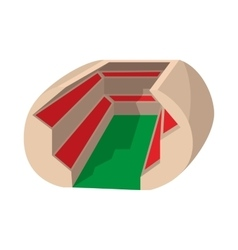 Football soccer stadium cartoon icon vector image