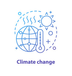 Global warming concept icon vector