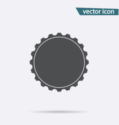 gray bottle cap icon isolated on background moder vector image