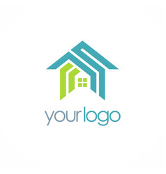 home roof realty company logo vector image
