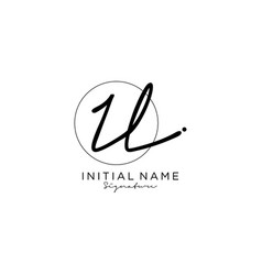 il initial handwriting logo design vector image