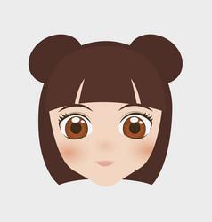 Japan girl design vector