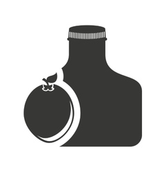 juice fruit bottle silhouette icon vector image