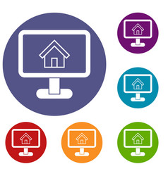 Layout of house icons set vector