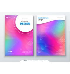 Liquid color covers set fluid shapes composition vector