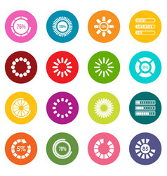 loading bars and preloaders icons many colors set vector image
