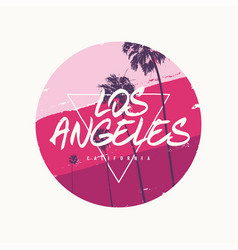 los angeles graphic colorful t-shirt design vector image
