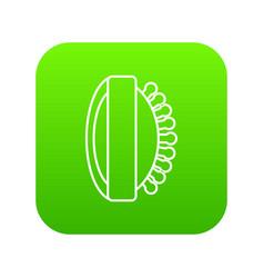 massage brush icon green vector image