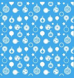 merry christmas ball on blue background vector image