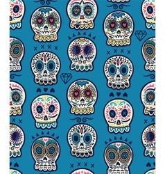 Mexican day of the dead Colorful skull cute vector