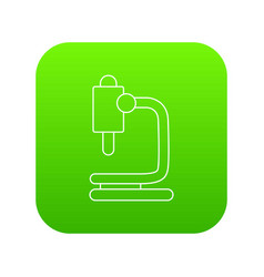 microscope icon green vector image