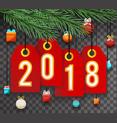 new year 2018 labels symbol icon transperent vector image